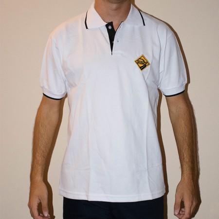 Chomba pique algodón/poliéster con detalle en cuello y puño