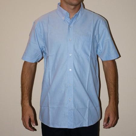 Camisa Oxford manga corta