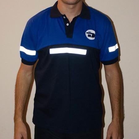 Chomba pique algodón o jersey combinada con reflectivo